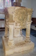 Image for Late Norman Font - St Cubert - Cubert, Cornwall