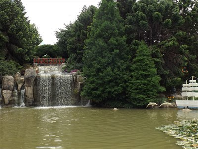 A viewing point of the Man-made Falls, on the the other side of the Man-made pond.1329, Sunday, 3 December, 2017