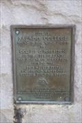 Image for Site of Salado College -- Salado TX