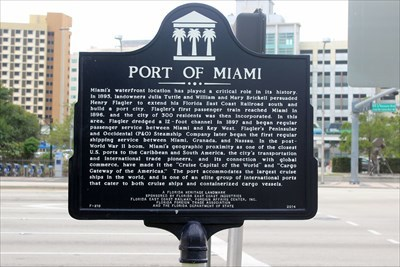 Port of Miami - Florida Historical Markers on Waymarking com