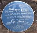 Image for Monnow Bridge - Blue Plaque - Monmouth, Gwent, Wales