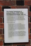 Image for The Family Tombstone of Edmond Halley -- Royal Observatory, Greenwich, London, UK