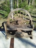 Image for Wagon Wheel Bench - Lake Fayetteville Trail - Fayetteville AR