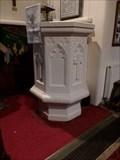 Image for Stone Pulpit - Sain Tathan Church - St Athan, Vale of Glamorgan, Wales.