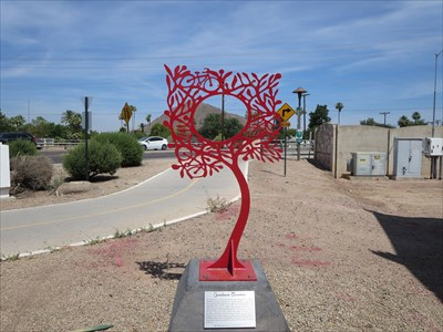 Camel's Red Leaves - Scottsdale, AZ - Silhouette Public Art