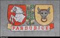 Image for Pardubice a Pernštejnové na mozaice v hale Pardubického hlavního nádraží / Pardubice and Lords of Pernštejn on mosaic in hall of Pardubice main station (East Bohemia)
