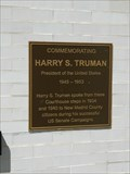 Image for Commemorating Harry S. Truman - New Madrid, Missouri