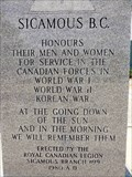 Image for Sicamous Cenotaph - Sicamous, BC