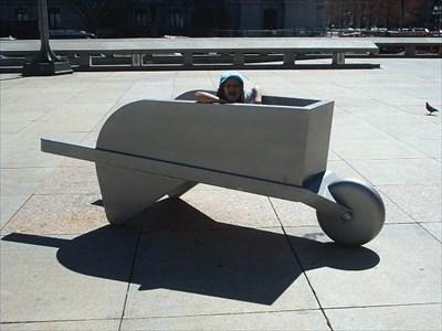 Little Fri wanting a ride.