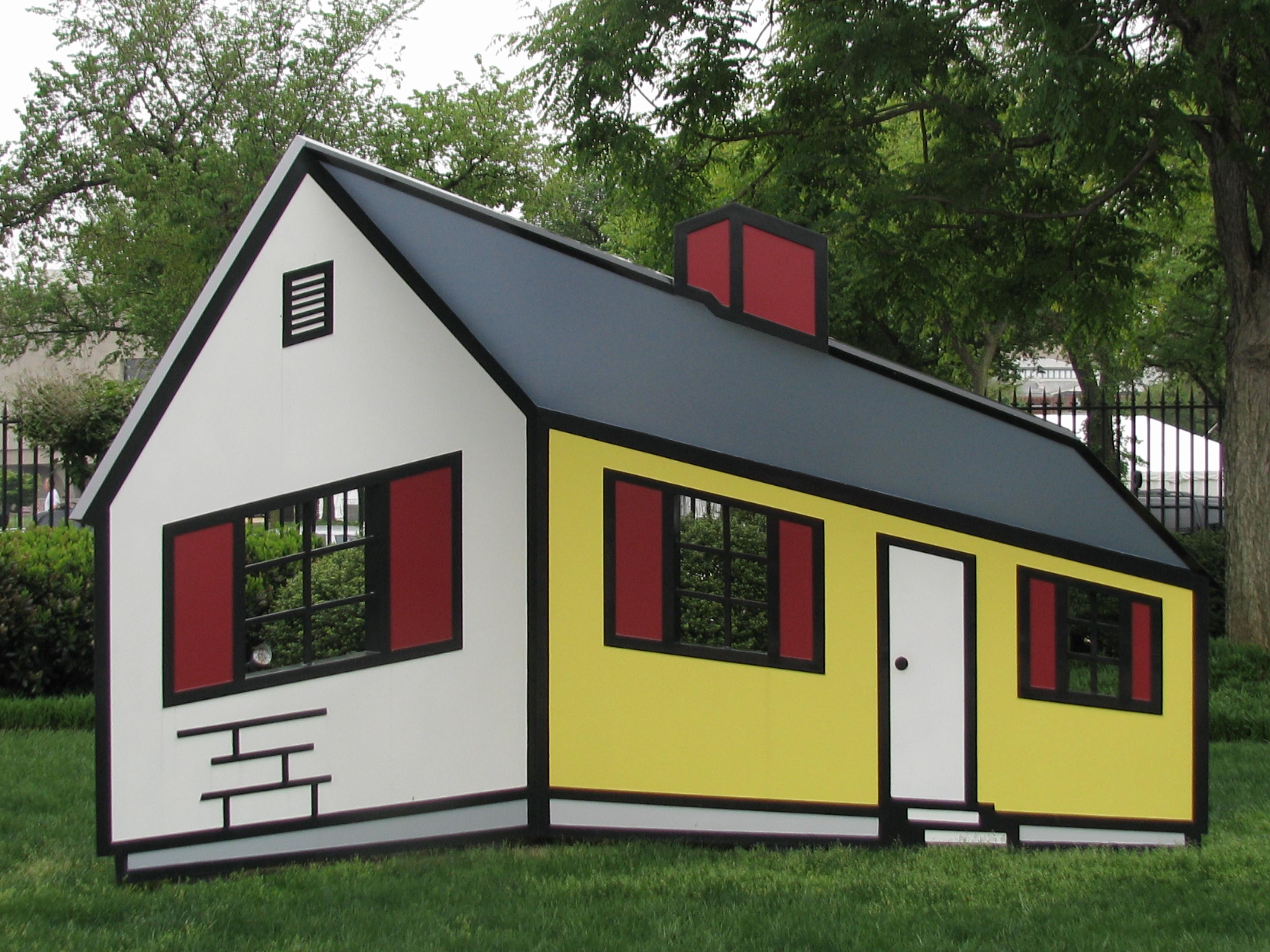 House I by Roy Lichtenstein - National Gallery Sculpture Garden ...