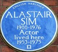 Image for Alastair Sim - Frognal Gardens, Hampstead, London, UK