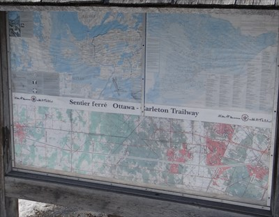 sign with topographic map