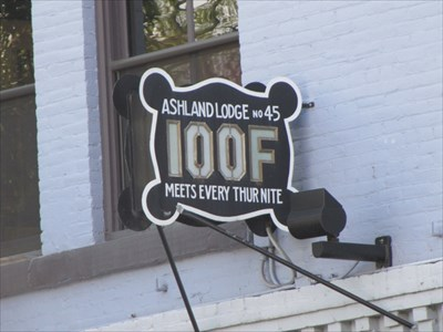 Ashland Lodge No 45 IOOF Sign, Ashland, OR