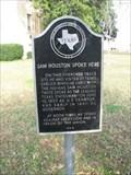 Image for Sam Houston Spoke Here