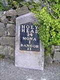 Image for A5 milestone (Bangor 11), Rhostrehwfa, Ynys Môn, Wales