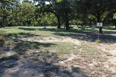Note 1936 centennial marker at the final resting place of Henry Fields, a San Jacinto veteran.  Far left.