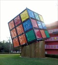 Image for Giant Rubik's Cube - Satellite Oddity - Pop Century Resort, Lake Buena Vista, Florida, USA