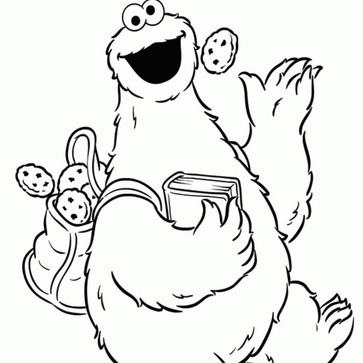 play 'cookie monster ' on gamesalad arcade - Baby Cookie Monster Coloring Pages