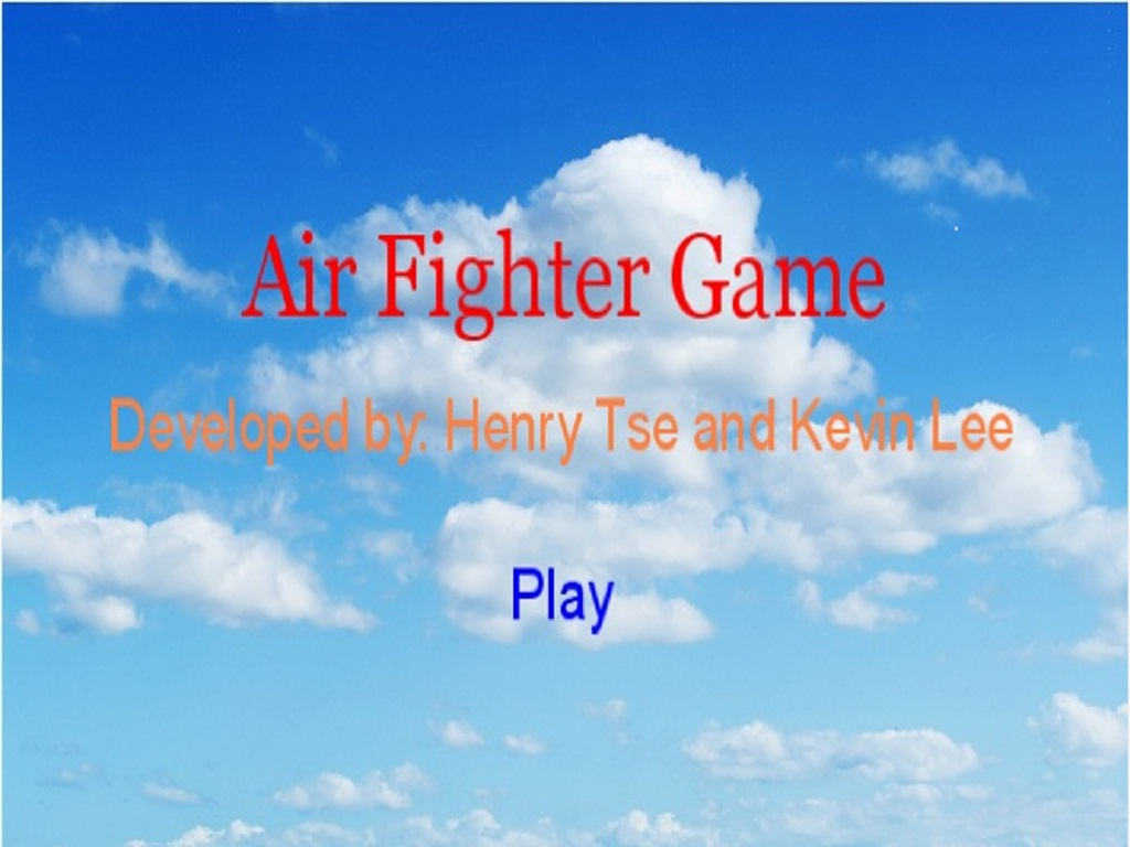 Air fighter arcade game