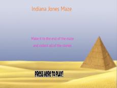 Indiana Jones Maze