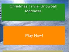 Christmas Trivia: Snowball Madness