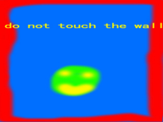 do not touch the wall