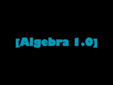 Algebra Game 1.0