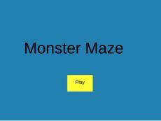 WNicholson Monster Maze