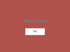 M.McCommon Monster Maze