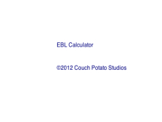 EBL Calculator