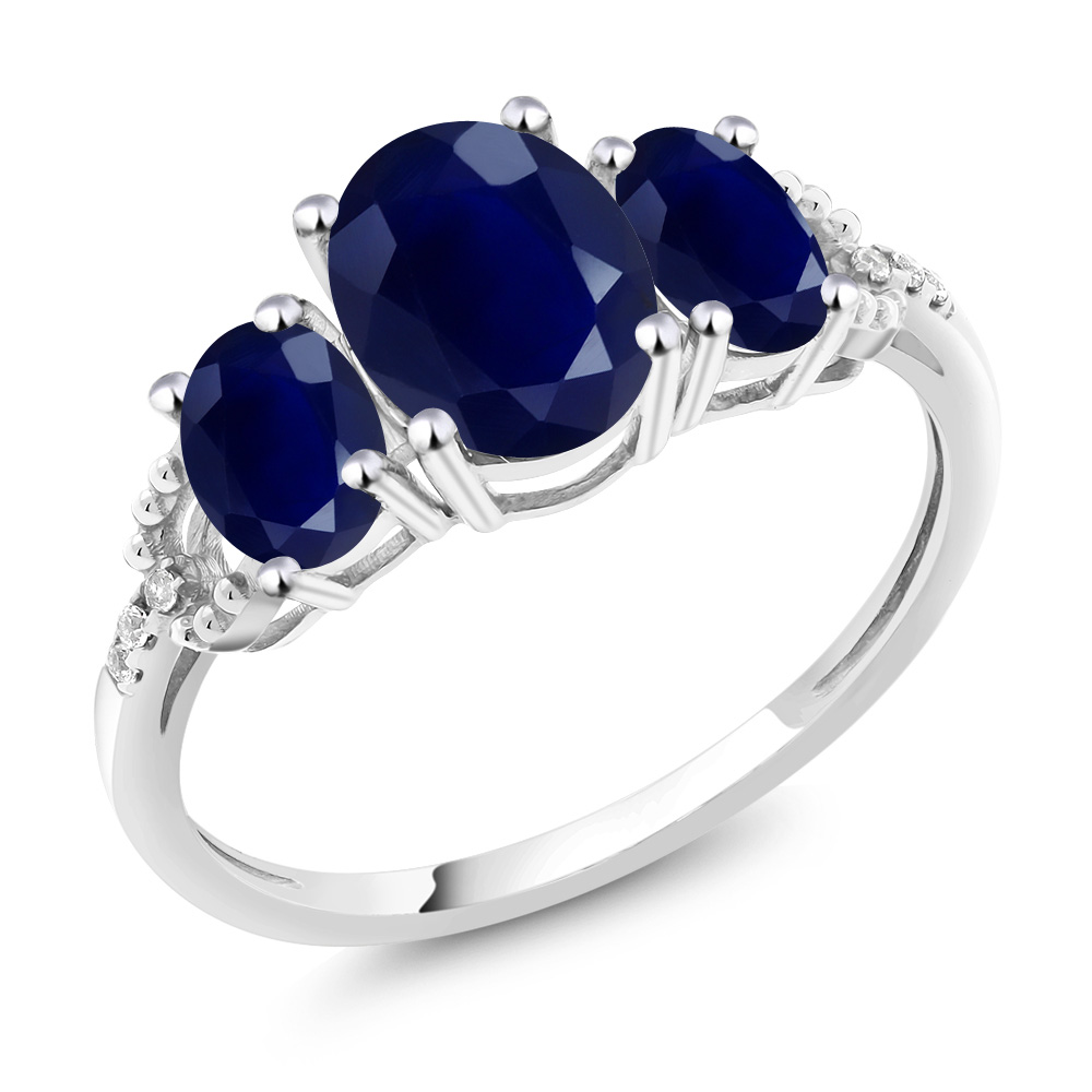 diamond oval kt sapphire carat and ct ring rings ceylon gia blue white gold certified natural ii