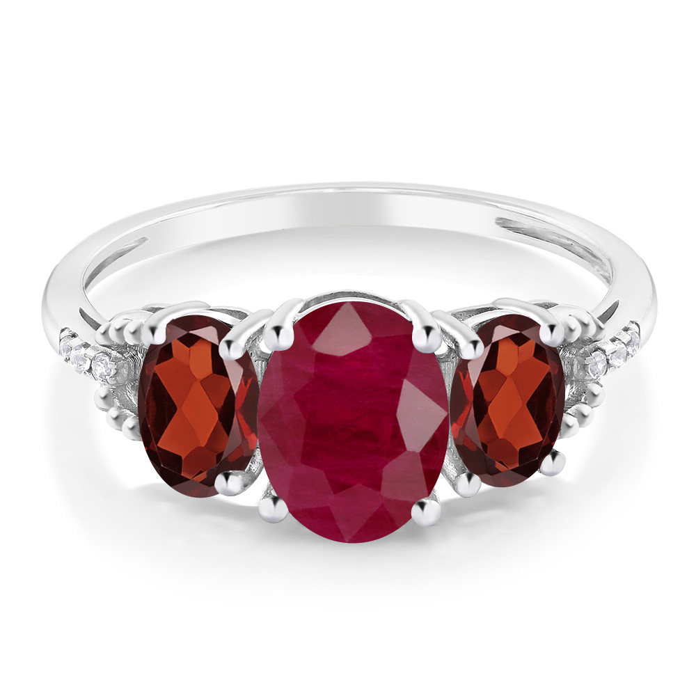 diamond accent white gold ruby ct garnet engagement r ov ga gdl oval w itm ring cs red