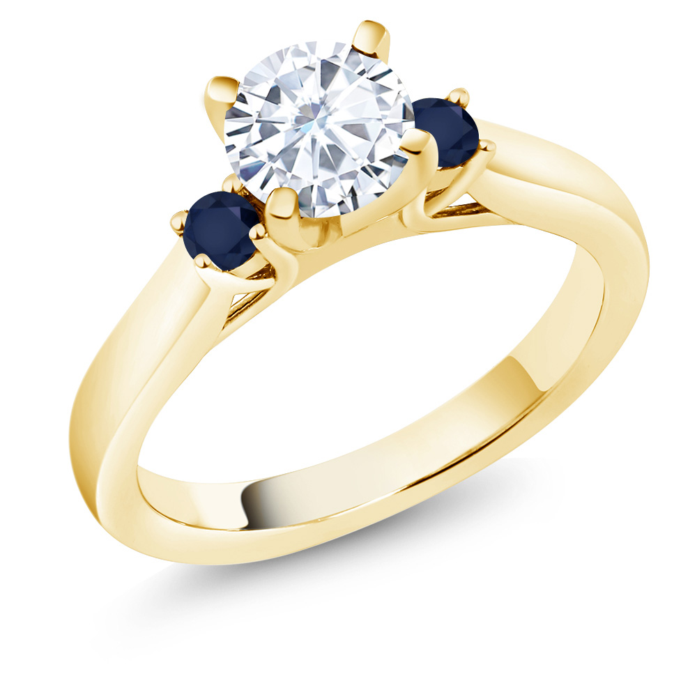 rose ceek vintage with gold design moissanite engagement sapphires ring an products fullxfull il unique sapphire