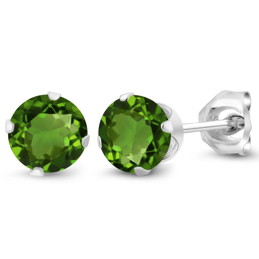 1.70 Ct Oval Orange Sapphire 925 Sterling Silver Dangle Earrings