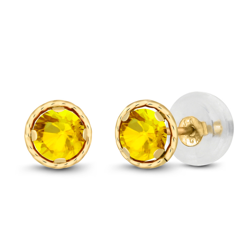 chopard earrings diamond stud happy yellow tradesy sapphire square i gold
