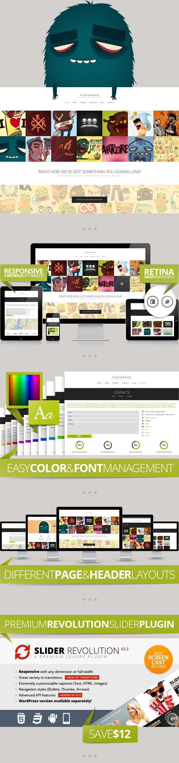 Performer Minimalistic Portfolio Web Template