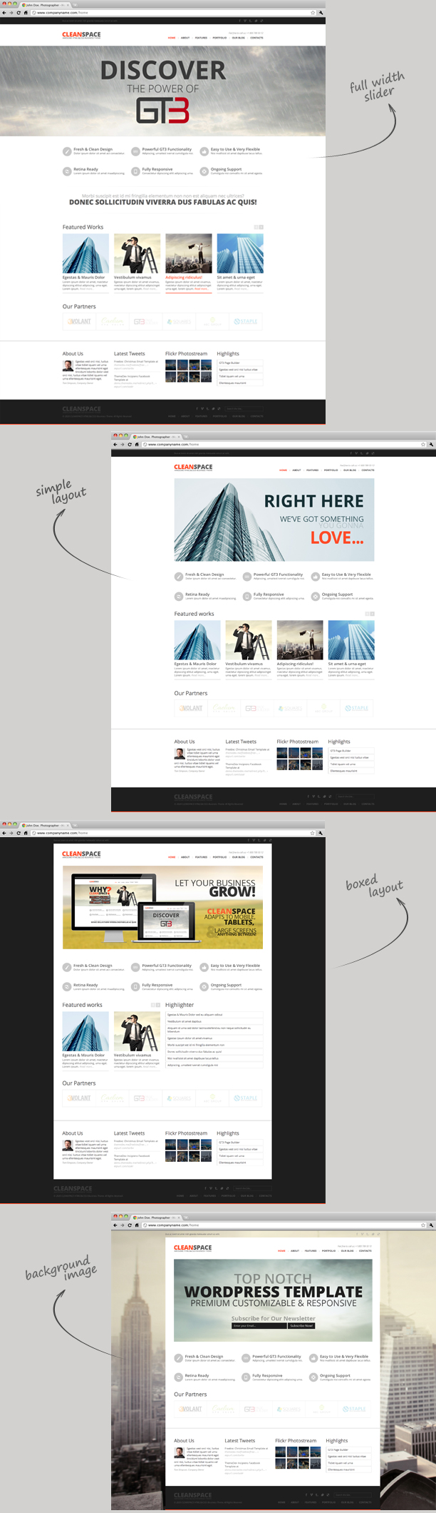 CleanSpace Retina Ready Business WP Theme