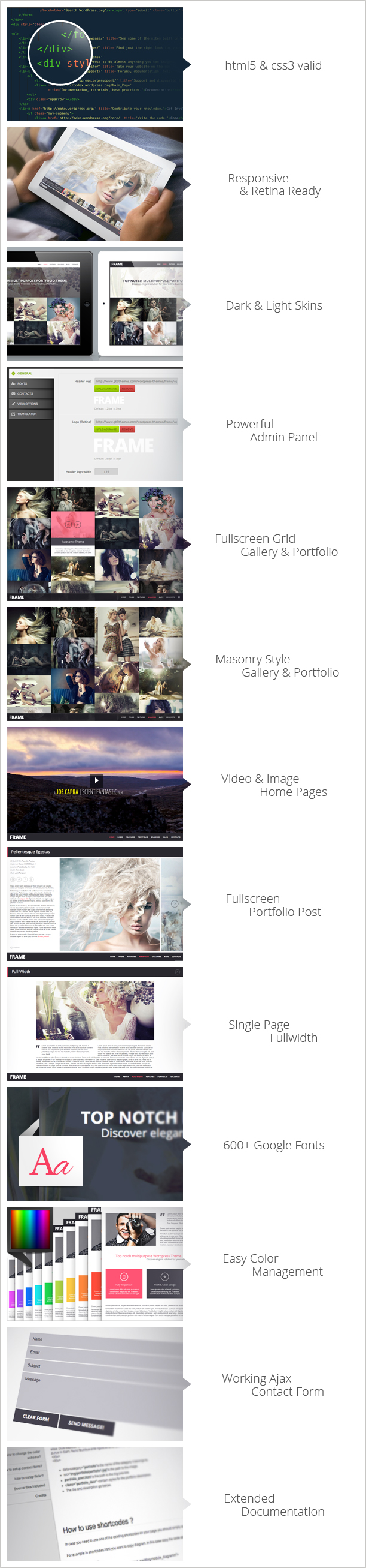 Frame Photography Minimalistic WP Theme