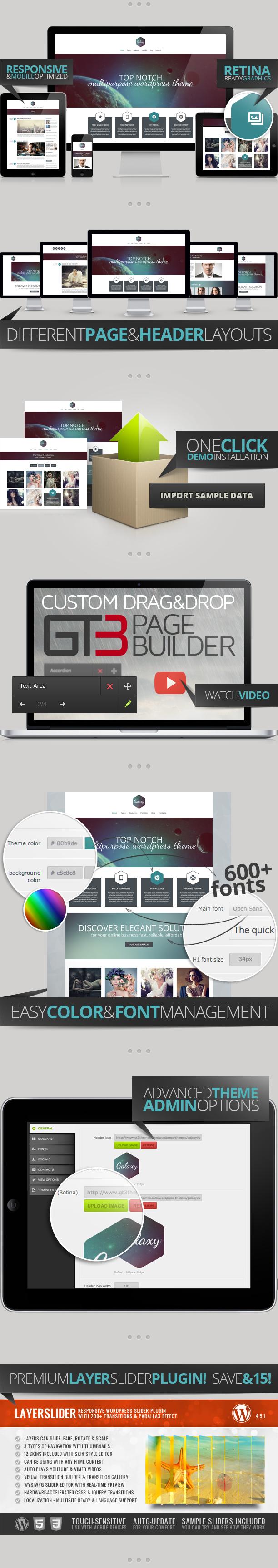Galaxy Responsive Portfolio WordPress Theme