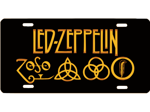 MY OTHER RIDE IS A ZEPPELIN Chrome License Plate Frame Tag Border