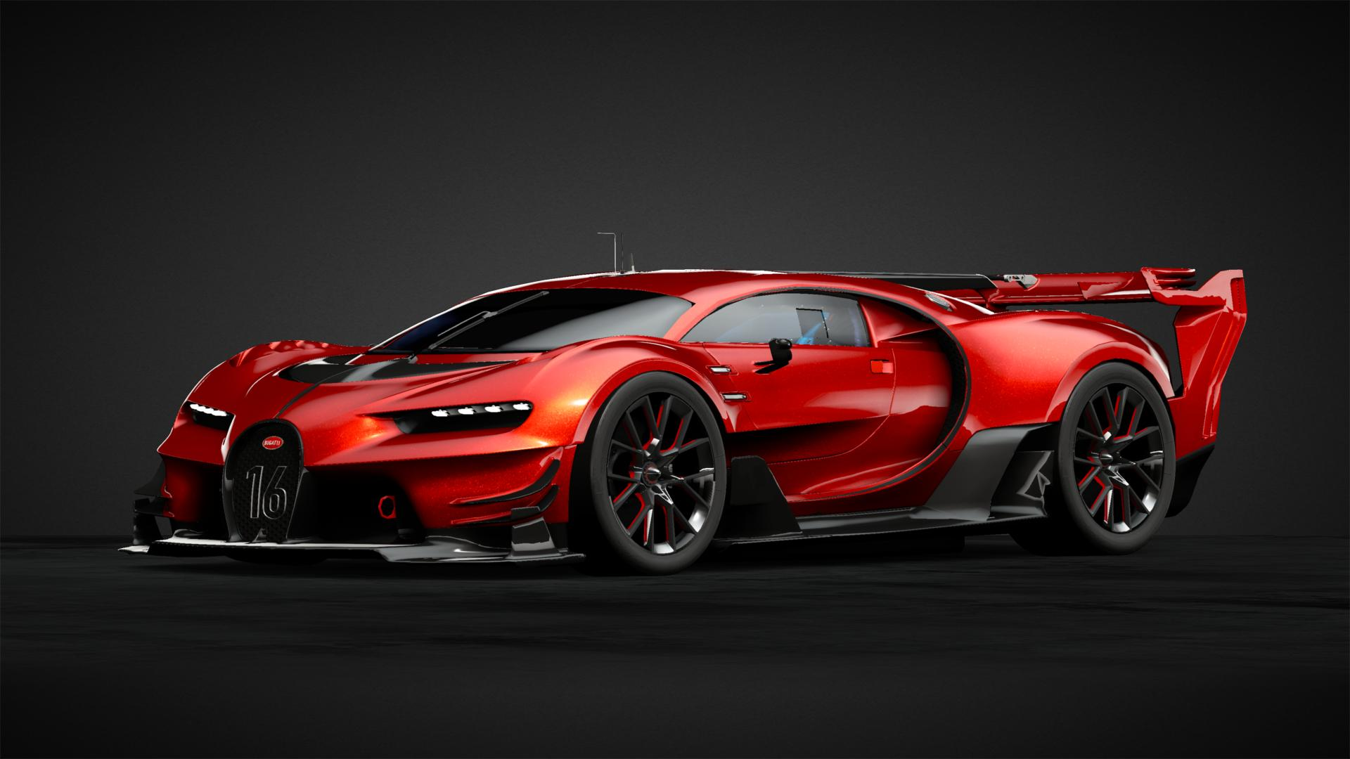 8c98efbf3 Bugatti Vision GT in a flaky red - Car Livery by rogholmesPNE1880 ...
