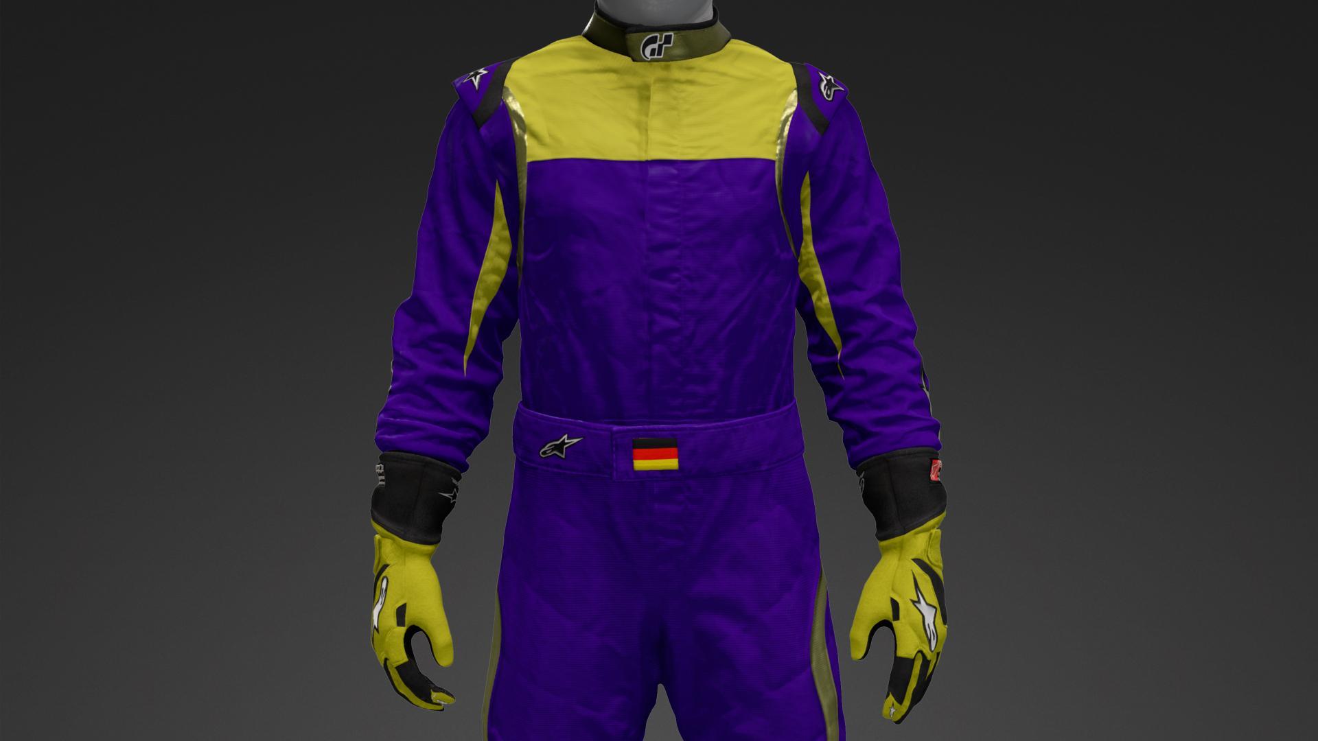 Combinaison Karting Sport course Costume Suit Karting Combo Noir // Blanc