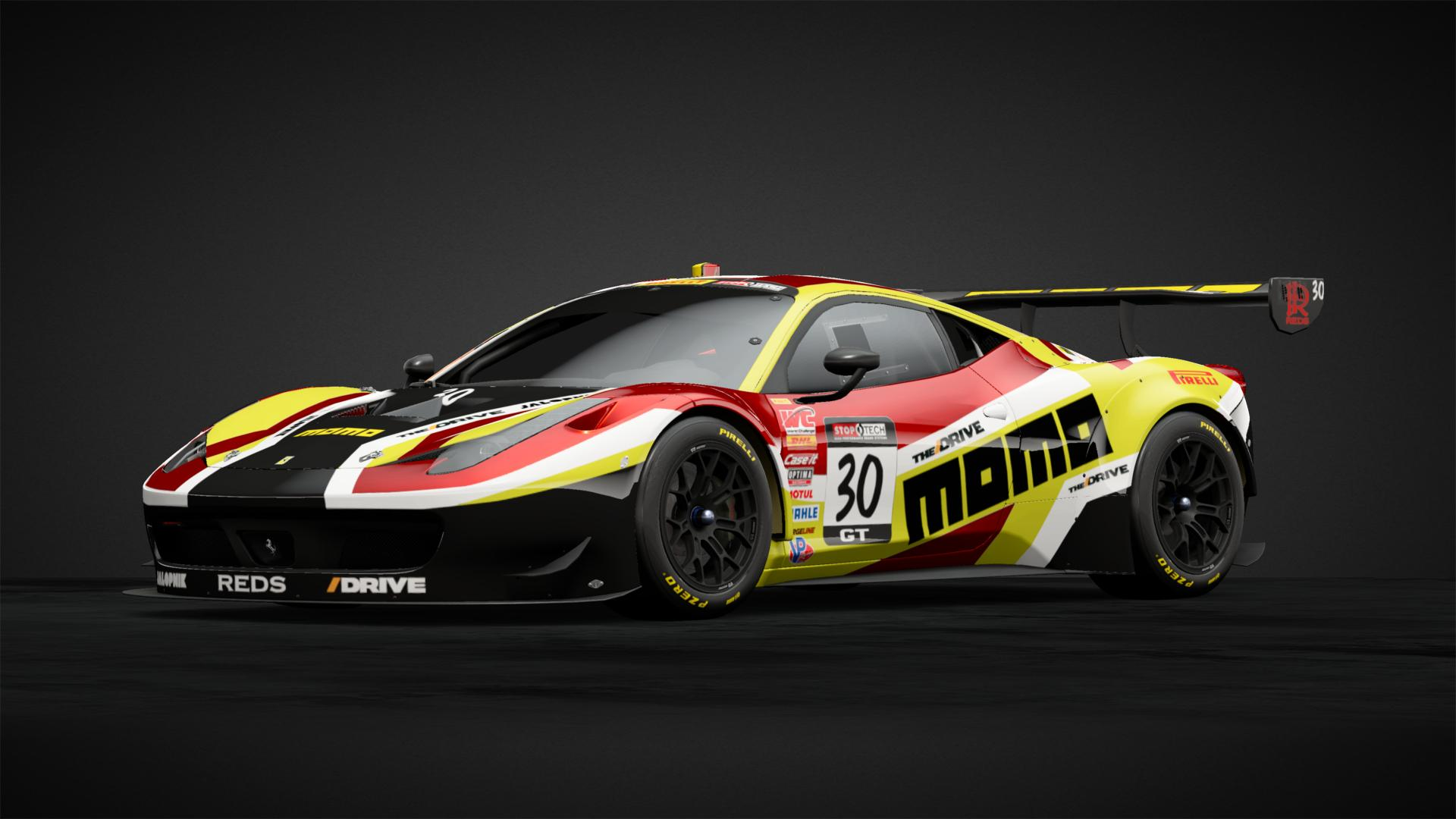 Ferrari 458 GT3 Momo (#font rdx) - Car Livery by