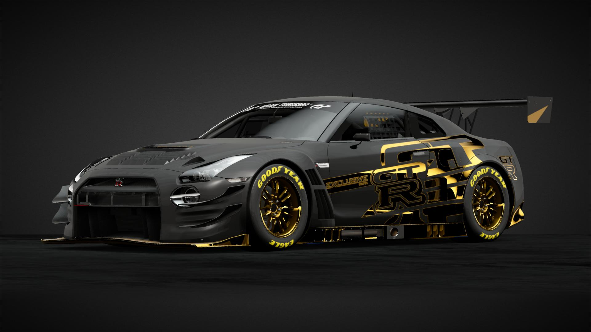 Liberty Walk Nissan GT-R R35 - Car Livery by Zockerking-Gold