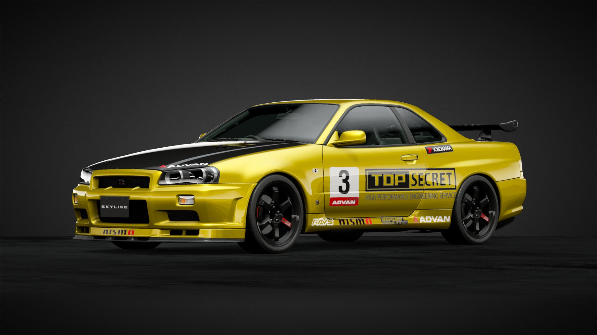R34 top secret - Car Livery by integra_o1 | Community | Gran