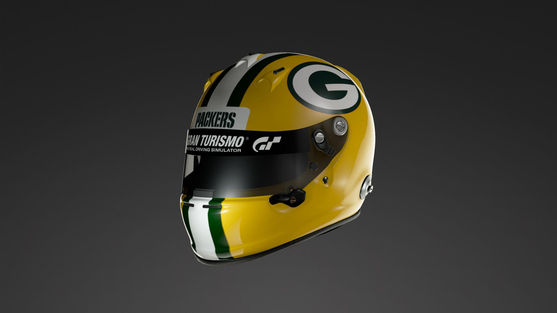 Green Bay Packers Helmet Nfl Helmet Livery By Numenor12 Community Gran Turismo Sport