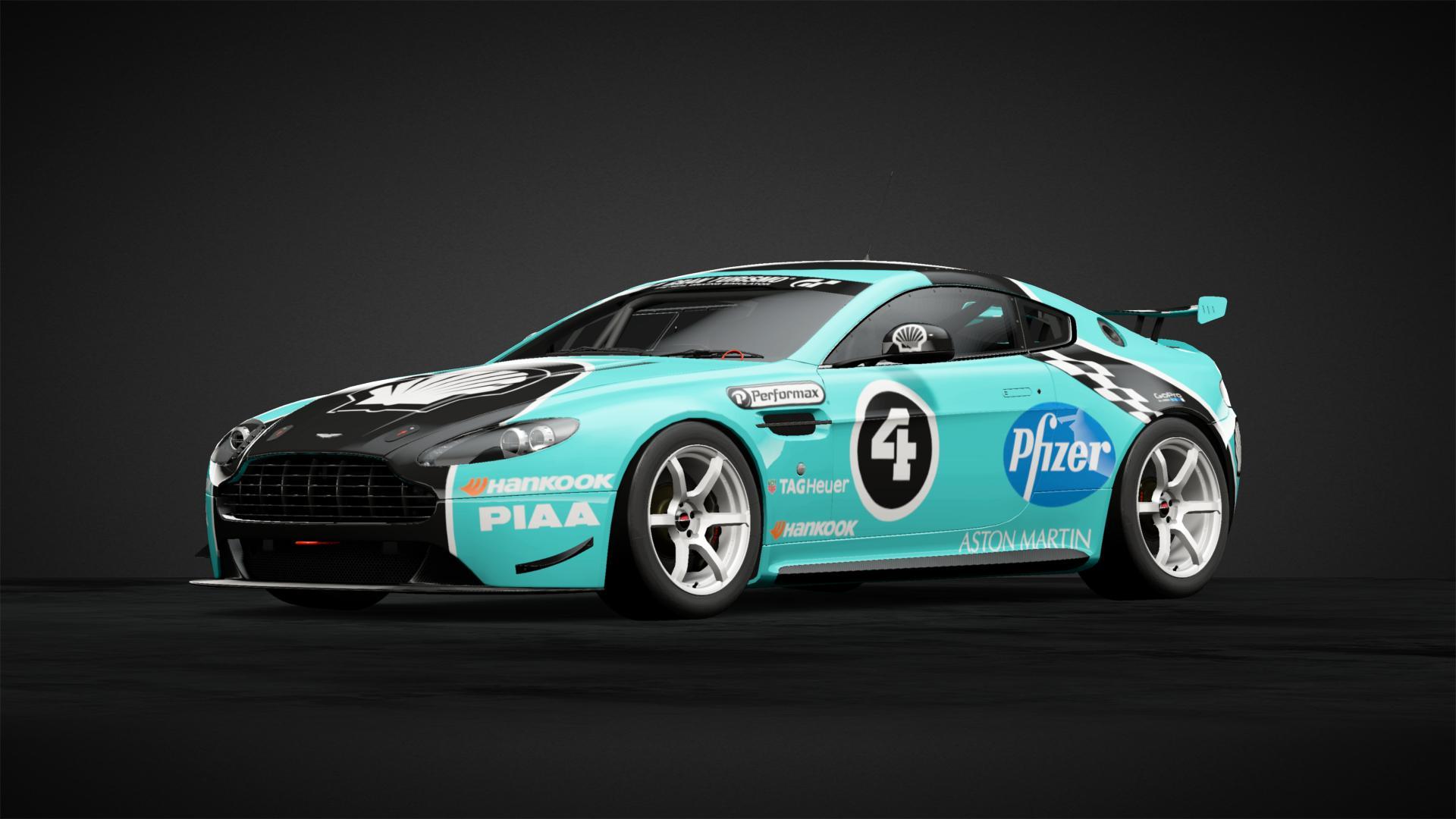 Aston Martin Shell 4 racer Livrea vettura di Balacus