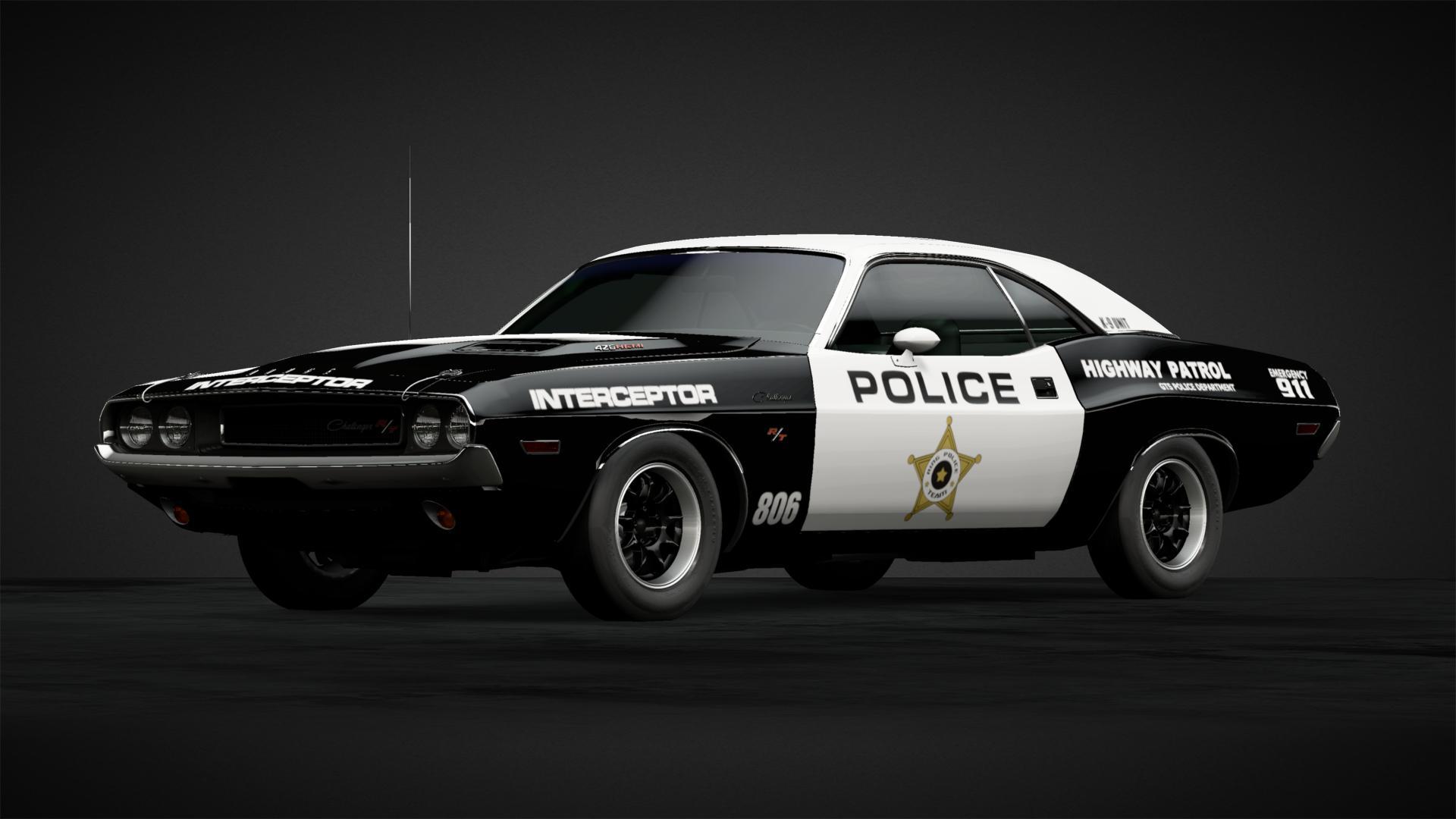 Police Interceptor Challenger Car Livery By Arc 74 Community 1974 Dodge Wiring Harness Gran Turismo Sport
