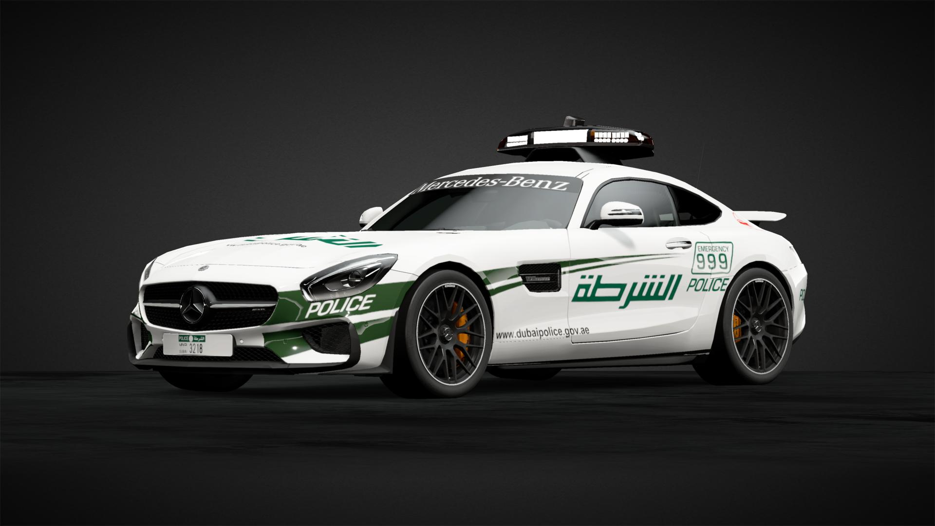 Mercedes AMG GT Dubai Police - Car Livery by sgebi