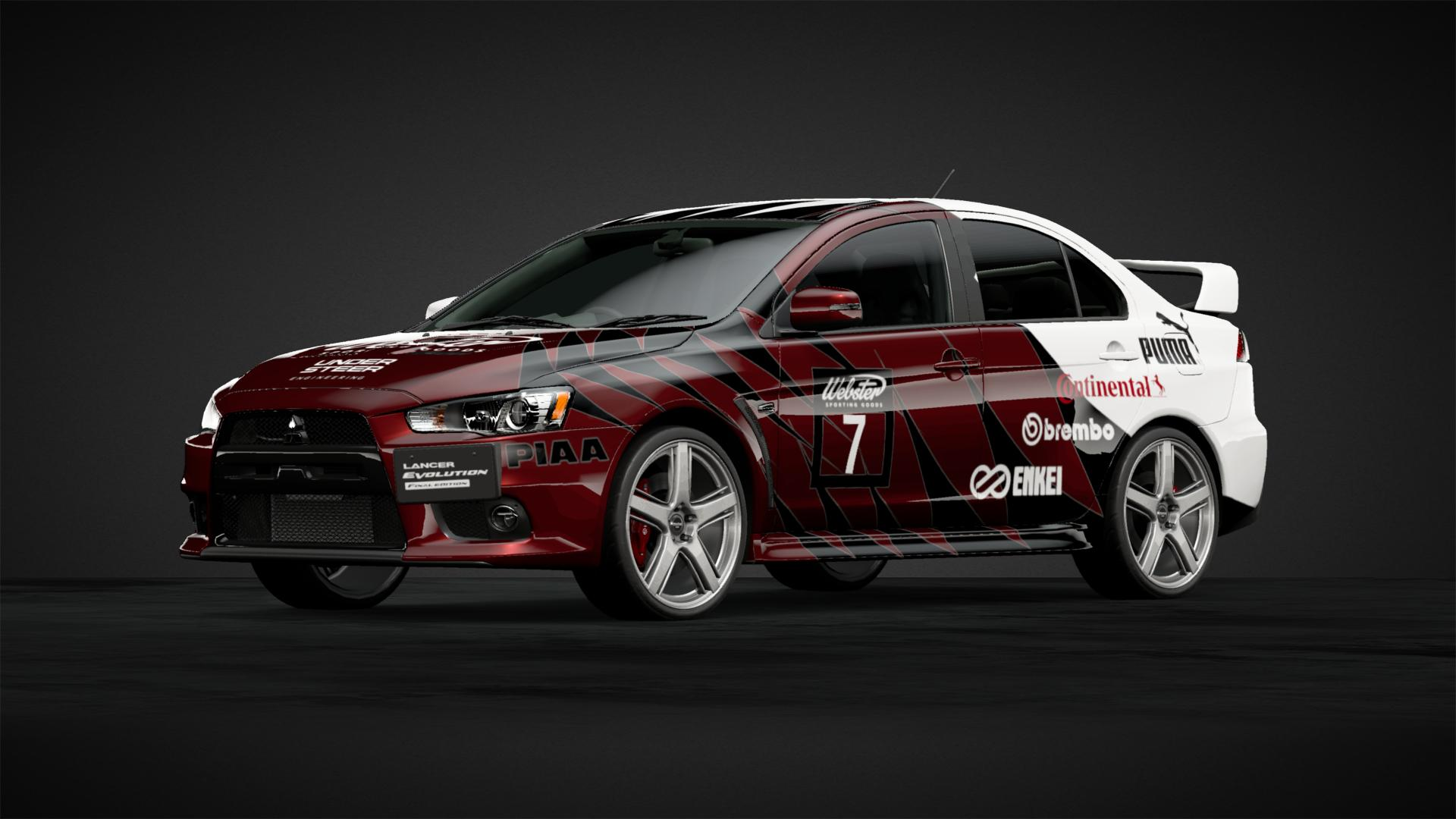 Webster Lancer Evolution - Car Livery by DUST | Community | Gran Turismo  Sport